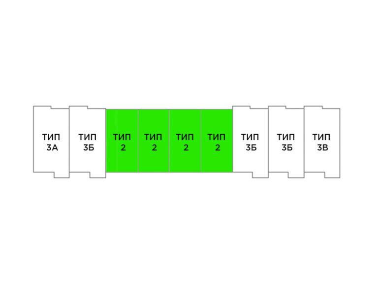 2-комнатный таунхаус 112,4 кв.м