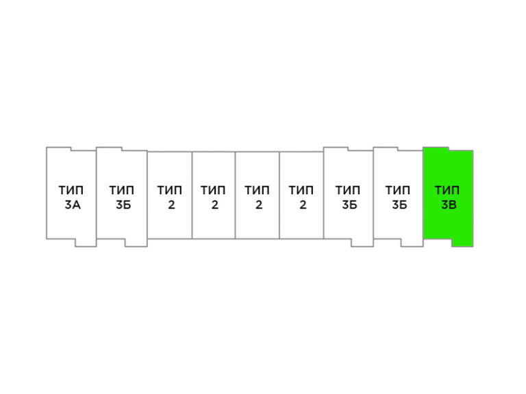 3-комнатный таунхаус 129,2 кв.м